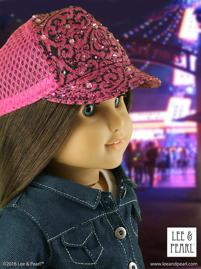 Want to make a truly unique stocking stuffer? Try a Lee & Pearl hat pattern for dolls! Here's Pattern 1008: Classic Ball Cap and Big Fat Trucker Hat for 18 Inch dolls, like our American Girl doll. Find this just-like-the-real-thing pattern in the Lee & Pearl Etsy store at https://www.etsy.com/listing/184380608/lp-pattern-1008-classic-ball-cap-and-big