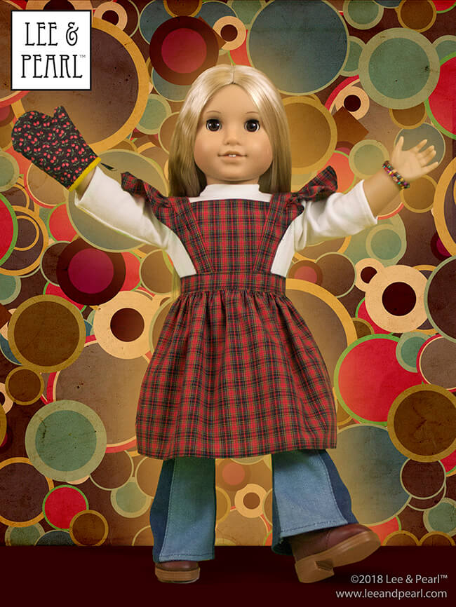 Who else is mesmerized by the Great British Baking Show this holiday season? Today, we're presenting baking-themed patterns for dolls, perfect for gifts, holiday scenes, sewing along to your favorite new TV show — and for Blaire Wilson, the COMING SOON 2019 American Girl Girl of the Year! Here's Pattern 1022: Cookie Time Apron, Pinafore and Oven Mitt for 18 Inch Dolls, available in the Lee & Pearl Etsy store at https://www.etsy.com/listing/213964231/lp-pattern-1022-cookie-time-apron