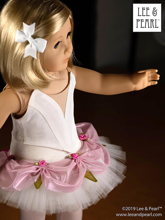 COMING SOON from Lee & Pearl — a new dance sewing pattern for American Girl dolls! Look for Pattern 1074: Ballet Costume Accessories Mix-and-Match Tutu Plates and Elastic Sleeves for 18 Inch Dolls, coming soon to the leeandpearl Etsy store!