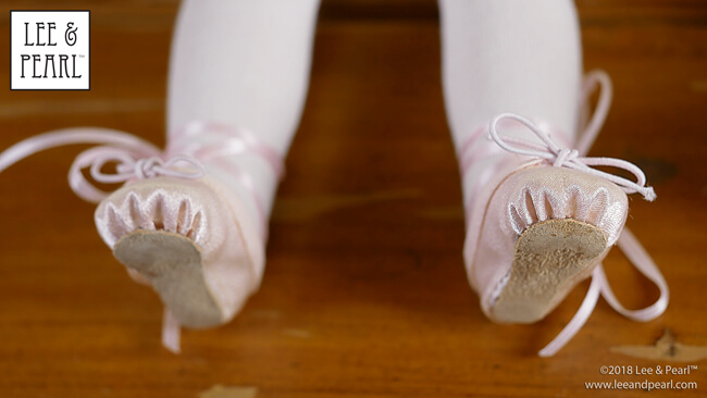 """18/"""" Doll Shoes Black Ballet Slippers Hard Toe Shoes fits American Girl Doll"""