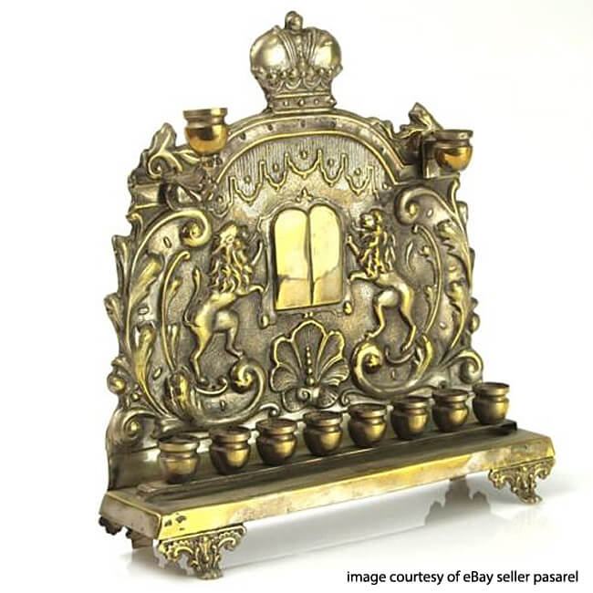 Circa 1900 Polish Menorah