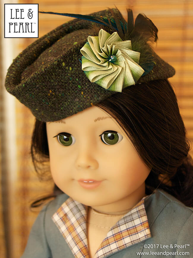 Want to make a truly unique stocking stuffer? Try a Lee & Pearl hat pattern for dolls! Here's Pattern 2021: Hollywood Hats - The Glengarry for 18 Inch dolls, like our American Girl doll. Find this jaunty vintage cap pattern, which includes detailed directions to make a foolproof ribbon cockade, in the Lee & Pearl Etsy store at https://www.etsy.com/listing/172926826/lp-pattern-2021-the-glengarry-hollywood