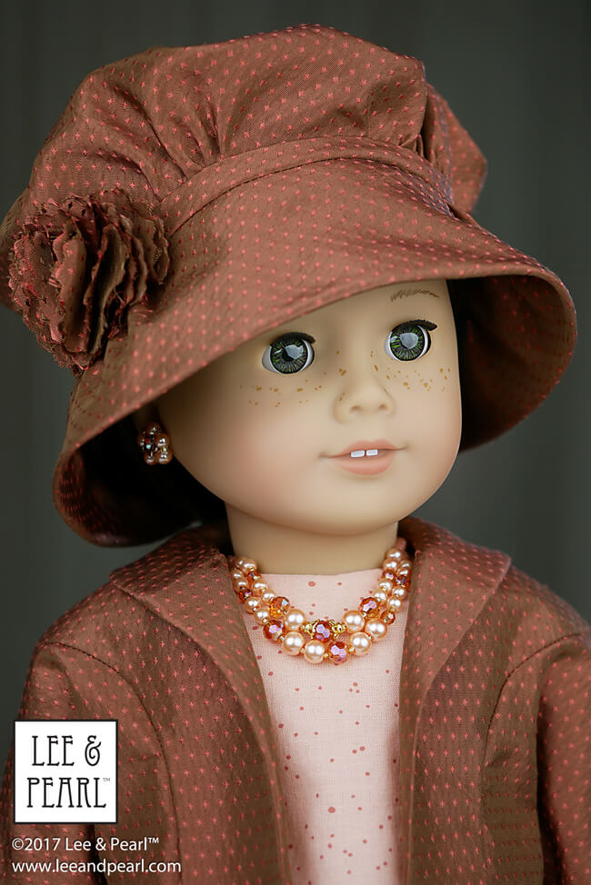 Perfect for vintage lovers and every level of sewist! Accessorize your dolls with Pattern 2064: Posh Accessories 1960s Flower Pot Hat, Gloves, Pearl Necklaces and Fabric Flower Trim for 18 Inch American Girl dolls. Find this wonderful pattern in the Lee & Pearl Etsy store at https://www.etsy.com/listing/584846711/lp-2064-posh-accessories-pattern-for-18