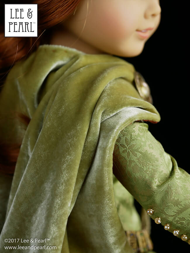Mark your calendars: the once-in-a-lifetime SILK KIT SALE in the Lee & Pearl Etsy shop will launch next Tuesday, September 19, 2017 at 12 noon EST. Make heirloom quality doll clothes like this medieval gown and mantle, made using Lee & Pearl Pattern 3001: A Late Medieval Lady's Wardrobe for 18 Inch Dolls. https://www.etsy.com/shop/leeandpearl