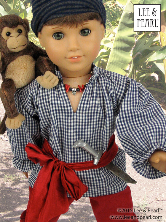 Lee & Pearl Pattern 3052: Pirates, Patriots and Princes 18th Century Men's Basics for 18 Inch Dolls
