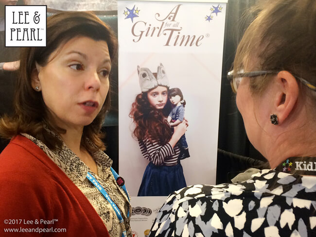 Lee & Pearl chat with Frances Cain of A Girl for All Time at Toy Fair in New York