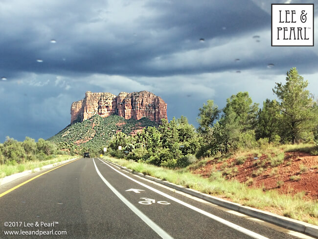 Join Lee & Pearl™ for a month on the road: watching storm clouds gather in Sedona, AZ.