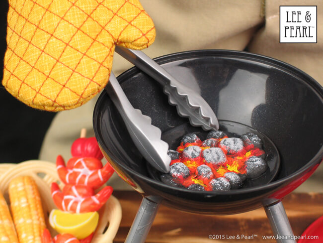 At Lee & Pearl™, we love turning cheap plastic toys into dolly treasures with a little paint and a lot of imagination. Follow our YouTube tutorial to create your own ultra-realistic glowing coals in the Target® Our Generation® Barn Dance and BBQ table top grill.