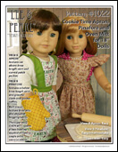 "Lee & Pearl Pattern 1022: Cookie Time Apron, Pinafore and Oven Mitt for 18"" Dolls"