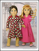 "Lee & Pearl Pattern 1031: Classic Wrap Dress and Peplum Top for 18"" Dolls"