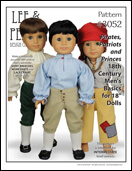 "Pattern #3052: Pirates, Patriots and Princes 18th Century Men's Basics for 18"" Dolls"