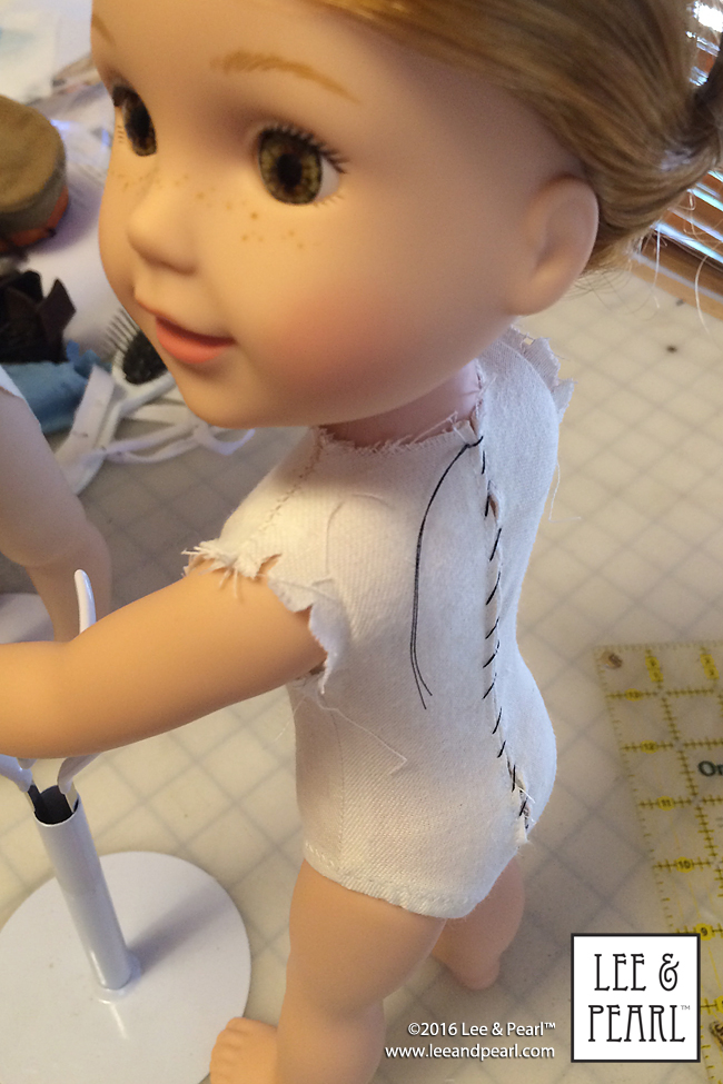 Why do Lee & Pearl doll patterns fit so well? We make our own, perfectly-fitted basic sloper patterns!