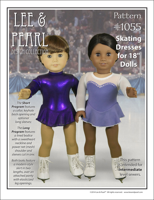 e4ec6a7c06 Lee   Pearl Pattern 1055  Skating Dresses for 18